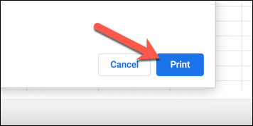 "In the printer dialog box, press the ""Print"" option to begin printing."