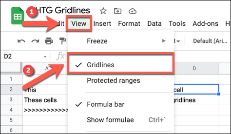 To disable gridlines on Google Sheets, press View > Gridlines in an open spreadsheet.