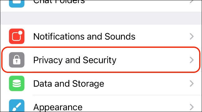 Access Privacy and Security Settings in Telegram