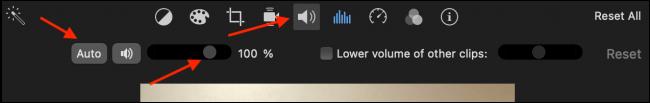 Increase Volume in iMovie