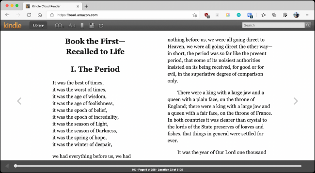 Kindle Cloud Reader With UI