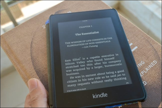 Kindle Ebook in Dark Mode