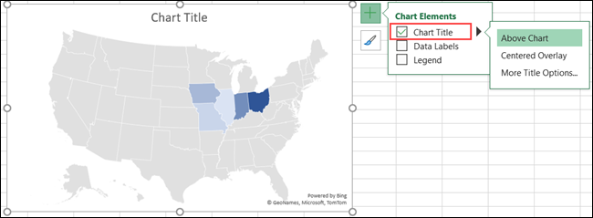 Map Chart Title