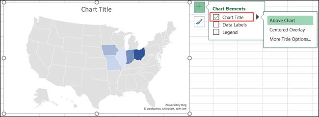 Titolo del grafico della mappa