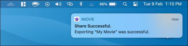 Movie Exported in iMovie