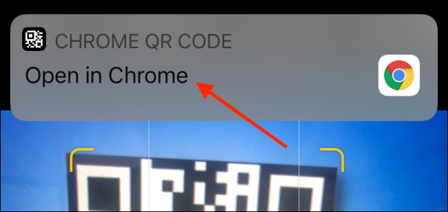 Open QR Code in Chrome Notification from Camera App