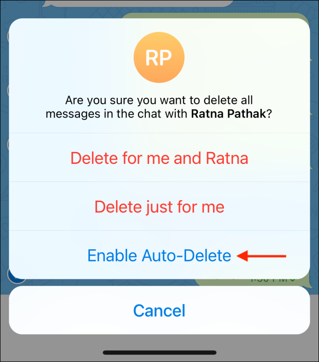 Tap Enable Auto-Delete