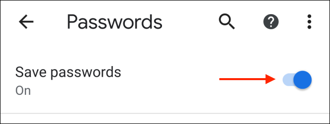 Tap to Disable Save Passwords in Chrome for Android