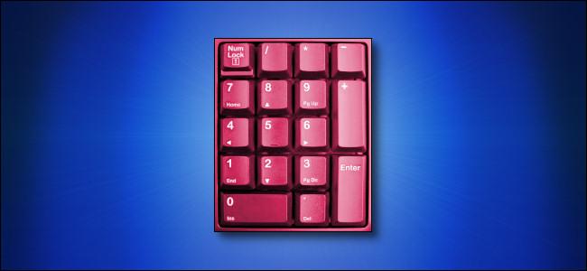 Numeric Keypad on Blue Background