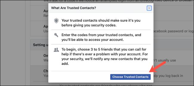 Dodaj zaufane kontakty na Facebooku