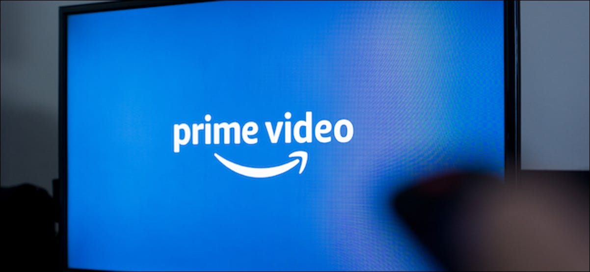 Amazon Prime Video being watched on a TV
