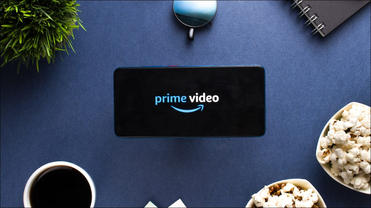 Amazon Prime Video logo on a smartphone