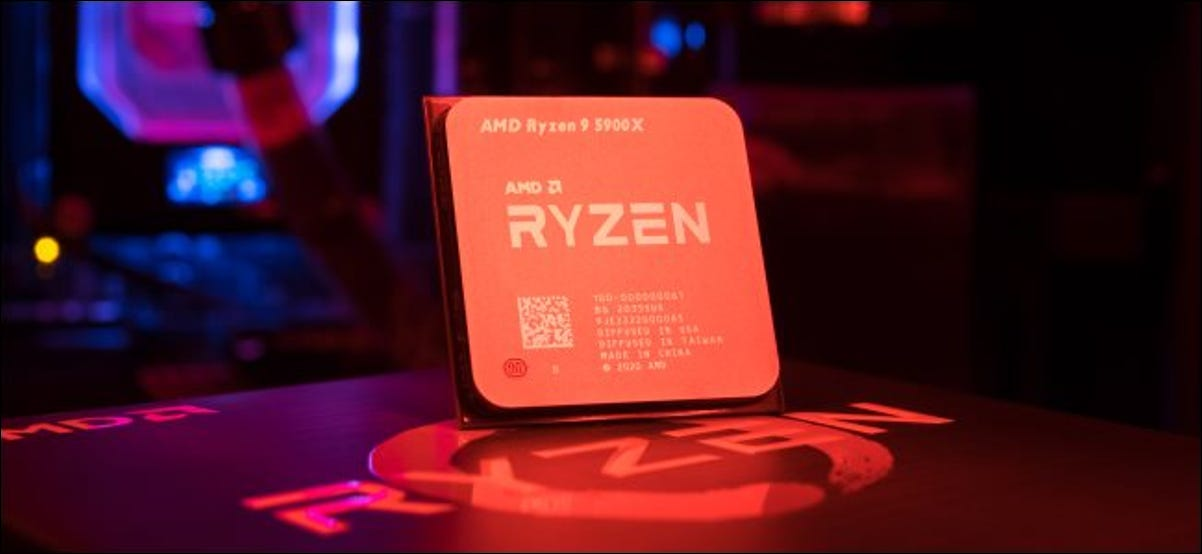 An AMD Ryzen 5000 Series desktop processor.