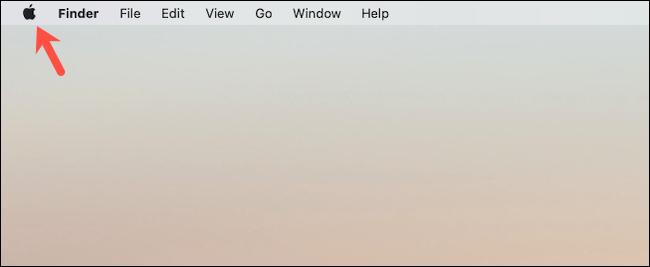 Click the Apple logo on the Mac desktop