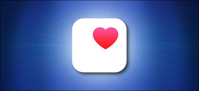 Apple Health icon on blue background