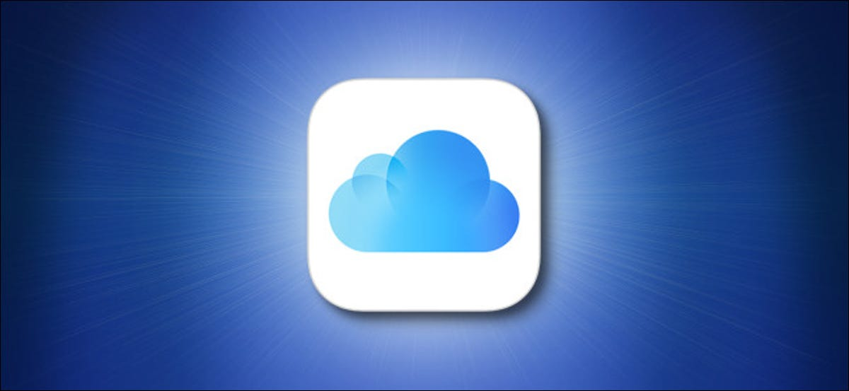 Apple iCloud Logo on a Blue Background