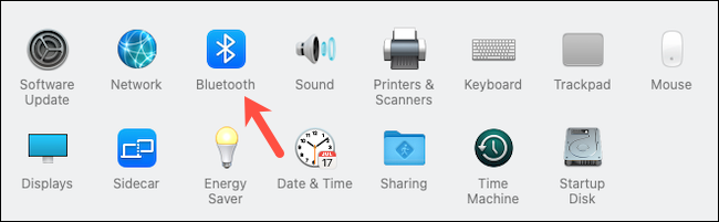 Go to Bluetooth System Preferences on Mac