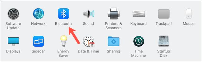 Visit Bluetooth system preferences on Mac