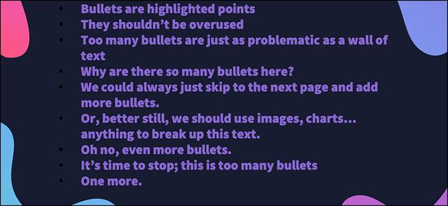 use fewer bullets
