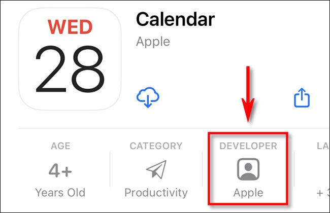 In the iPhone App Store, check to make sure the developer is Apple.