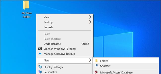 Altere o nome padrão para novas pastas no Windows 10