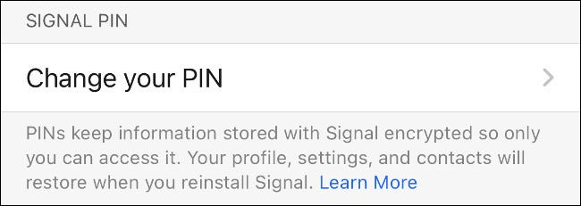 Change Your Signal PIN