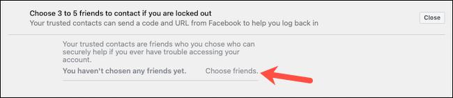 Wybierz zaufane kontakty na Facebooku