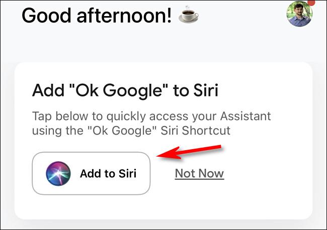 "Tap ""Add to Siri"""