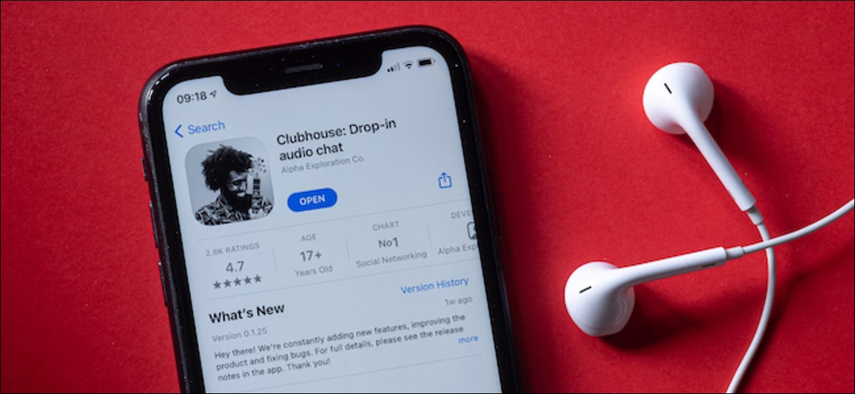 iPhone User Trying Clubhouse Drop-in Audio Social Network