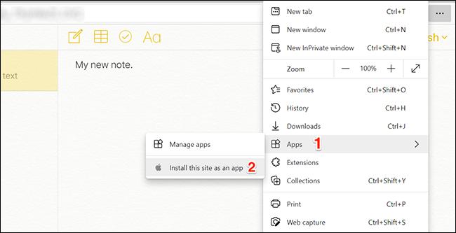 Create Notes app in Edge