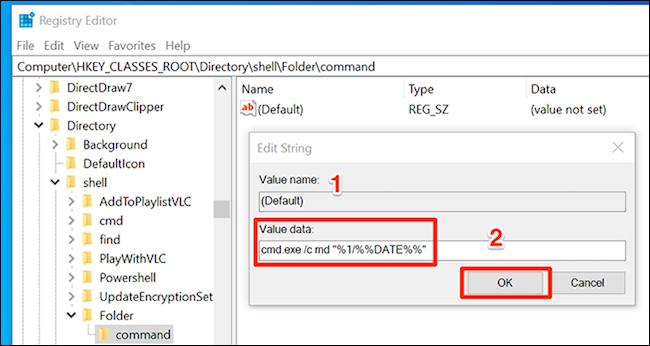 Specify settings for date folders