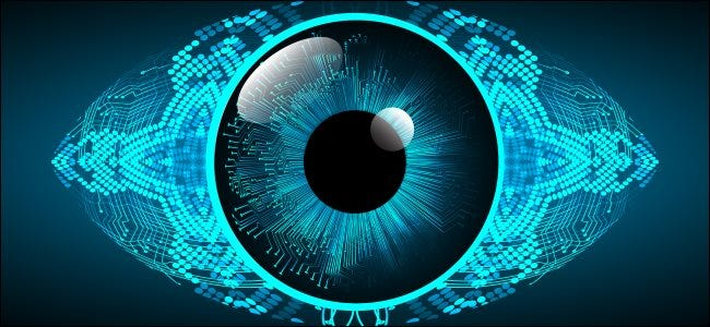 A concept image of a digital eye.