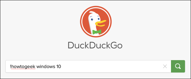 Search for How-To Geek with DuckDuckGo