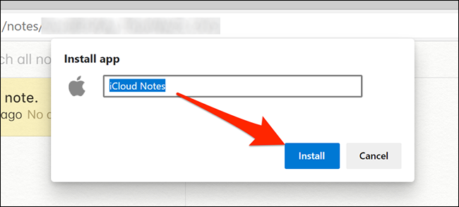 Install Notes app in Edge