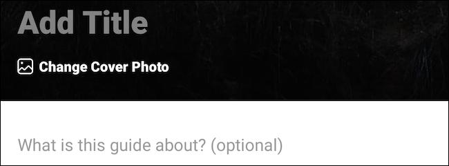 Отредактируйте заголовок и изображение обложки руководства Instagram