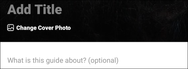 Edit Instagram guide's title and cover image
