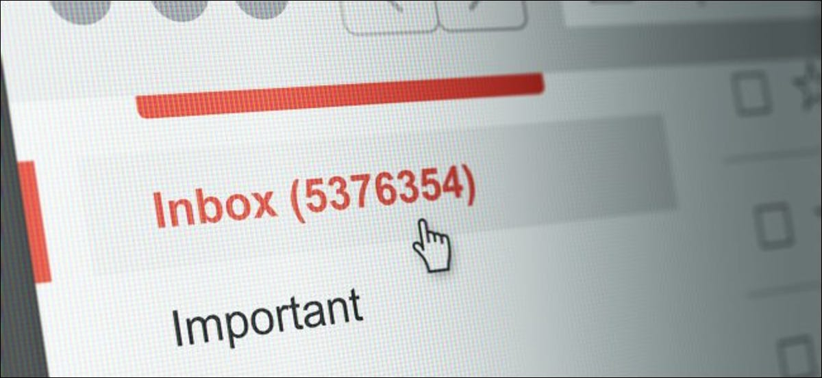 A large number of email messages in an inbox.