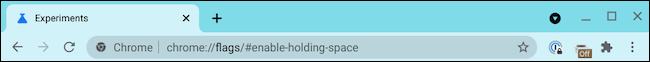 Enable holding space Chromebook address