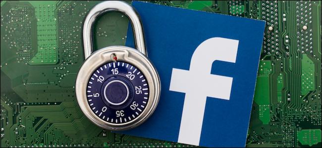Facebook logo next to a padlock