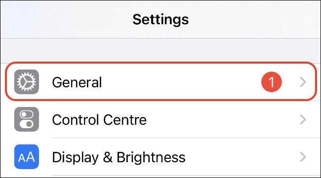 Общие настройки iPhone