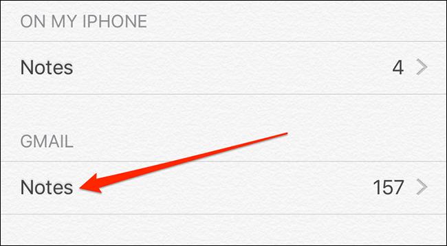 Notas de Gmail en Apple Notes