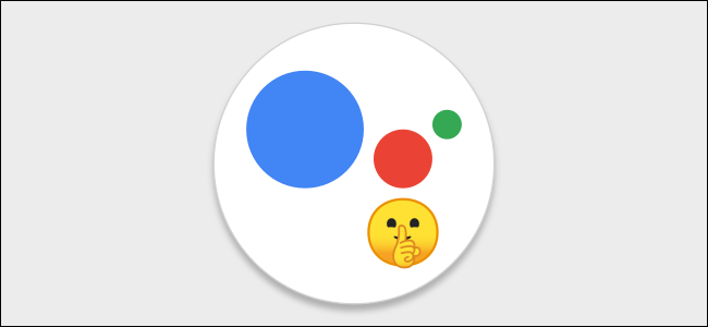 Google Assistant logo with silent face
