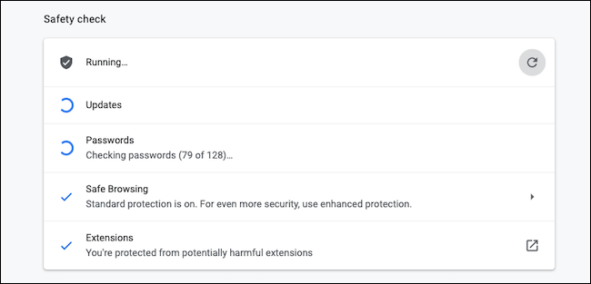 Biztonsági ellenőrzés a Google Chrome-on