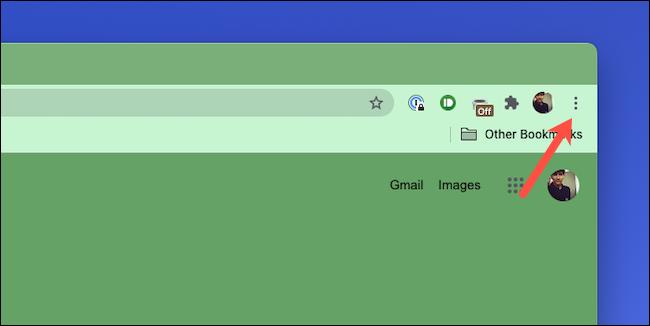 Nyissa meg a hárompontos menüt a Google Chrome-ban