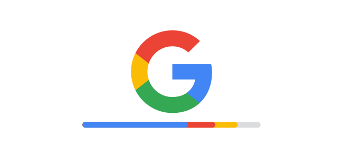 google logo with storage bar