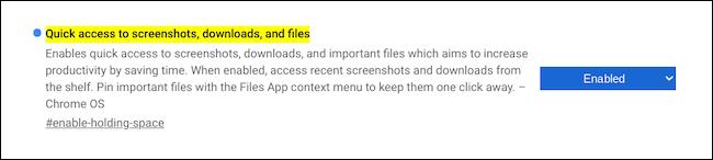Engedélyezze a Holding Space használatát a Chromebookon