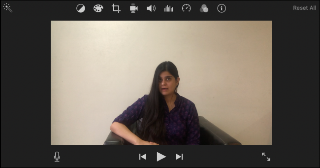 iMovie Editing Section