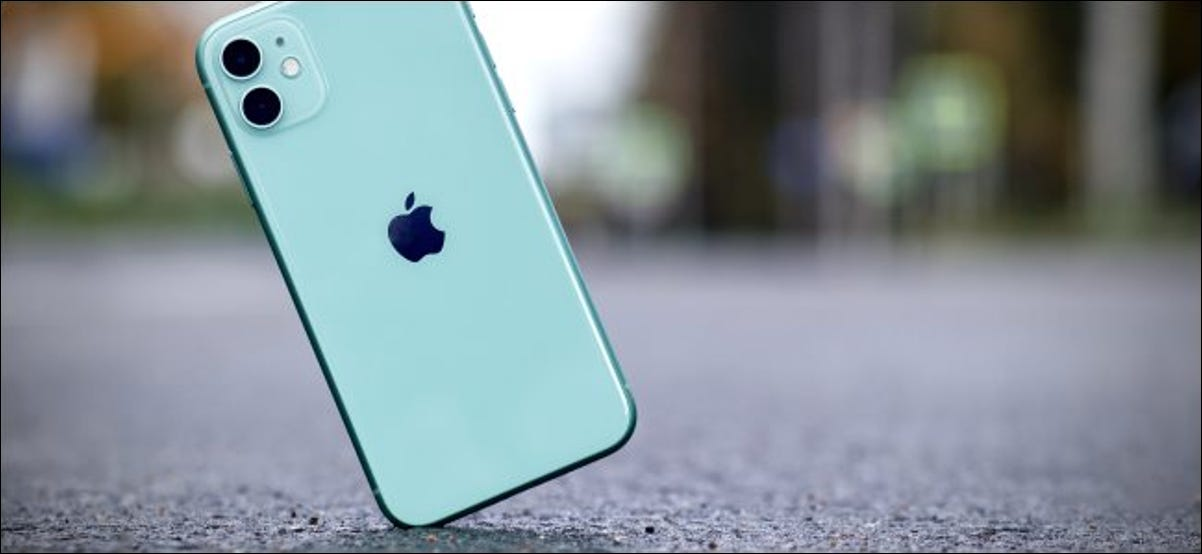 An iPhone hitting the pavement.