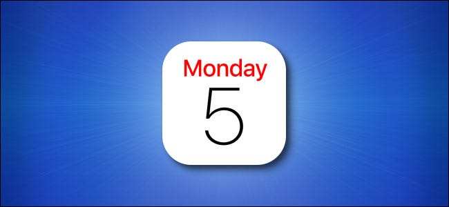 iPhone app calendar icon on a blue background