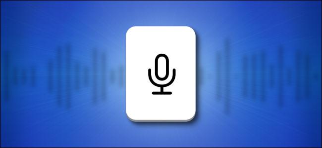 Кнопка клавиатуры микрофона iPhone и iPad на синем фоне